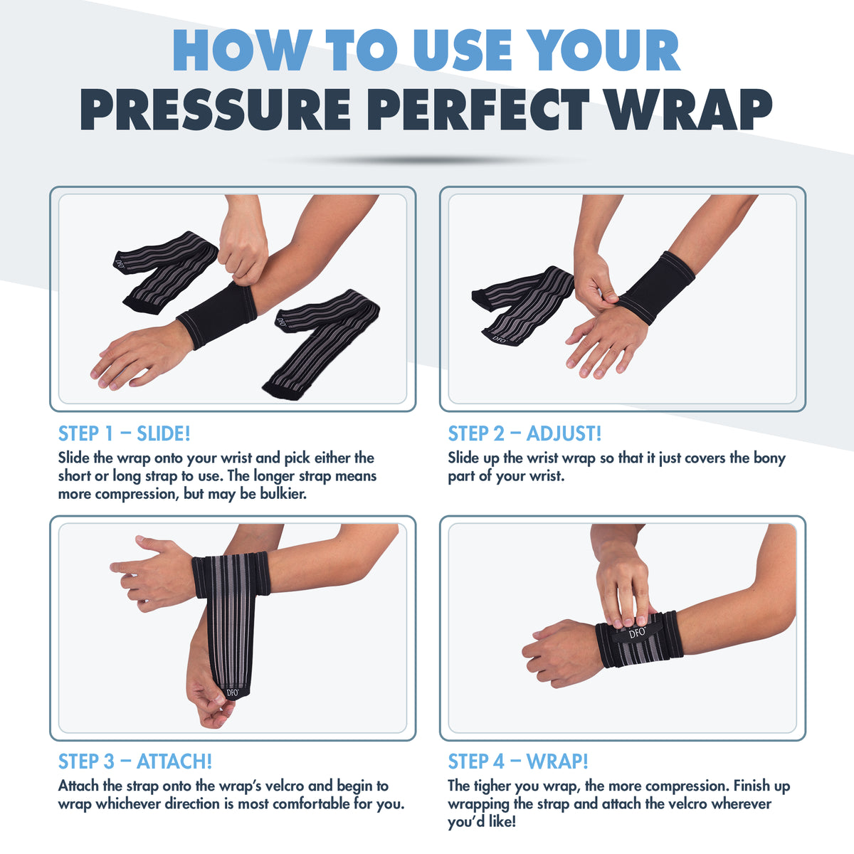 Dr. Frederick's Original Pressure Perfect Wrist Wrap System -- for Wrist Pain