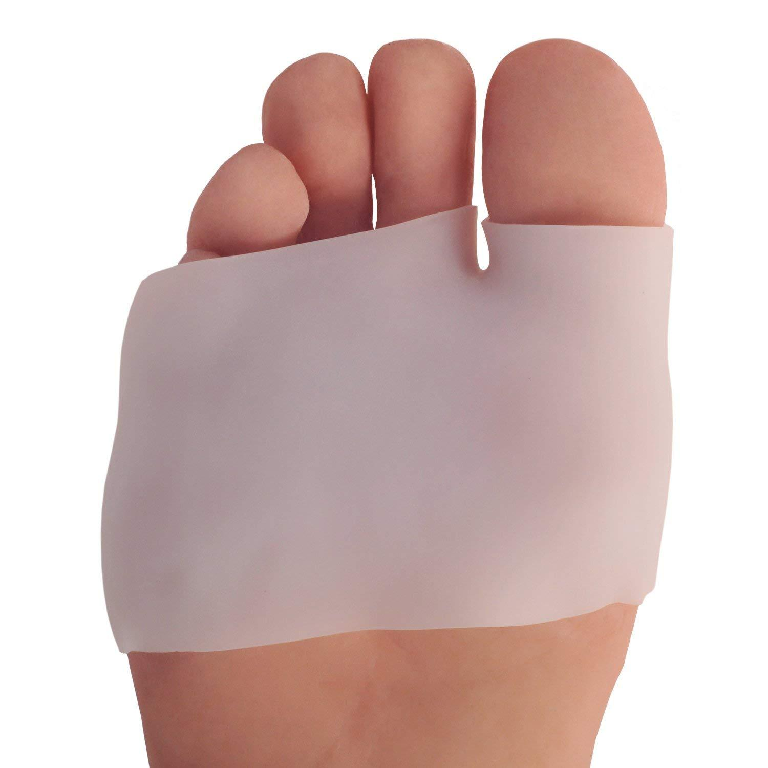 Dr. Frederick's Original Half Toe Sleeve Metatarsal Pads -- 2 Pieces - for Blisters, Calluses, Bunions, and Forefoot Pain Foot Pain Dr. Frederick's Original