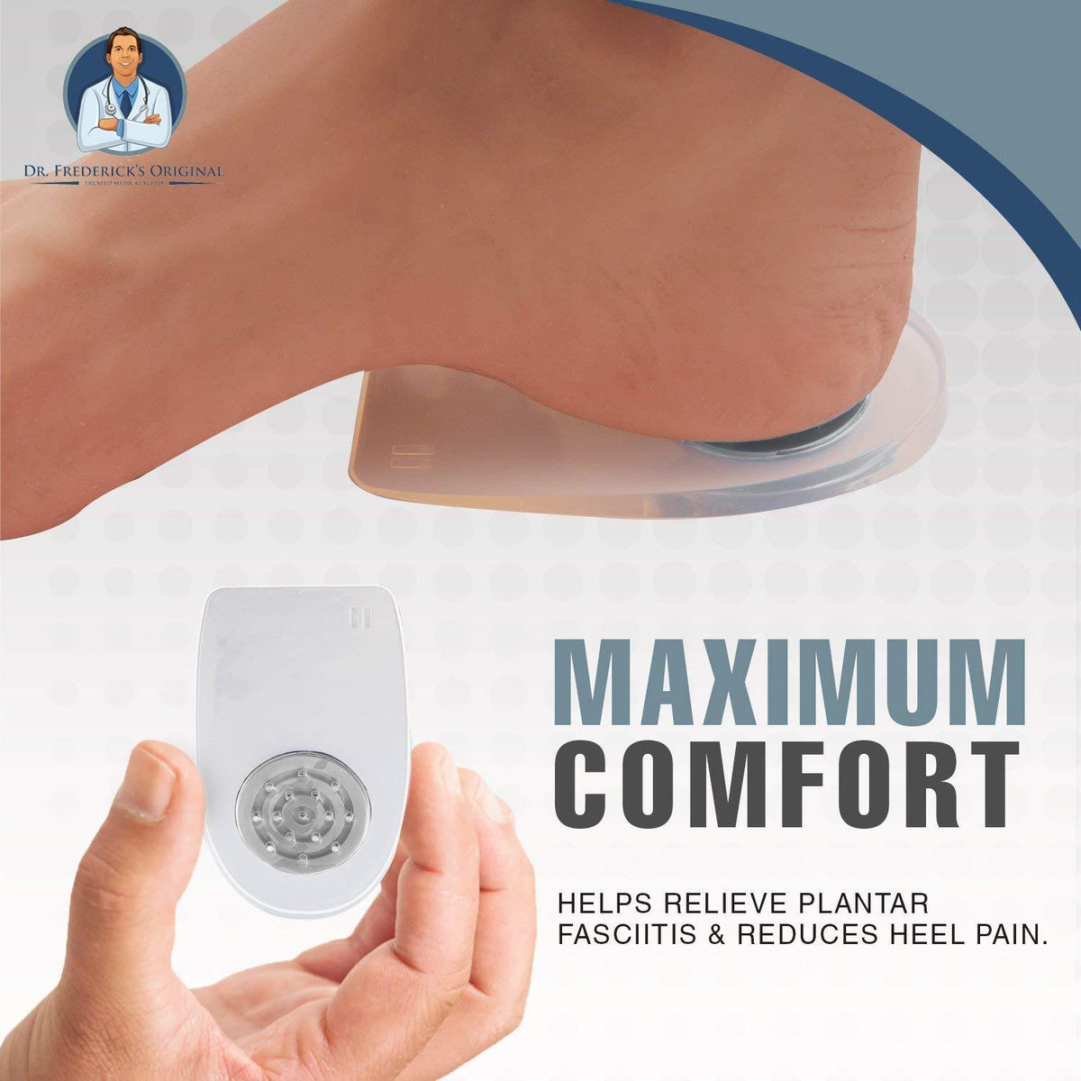 Dr. Frederick's Original Airstep Heel Cushion Inserts -- 2 Pieces - for Heel Pain, Plantar Fasciitis, and Heel Spurs Foot Pain Dr. Frederick's Original