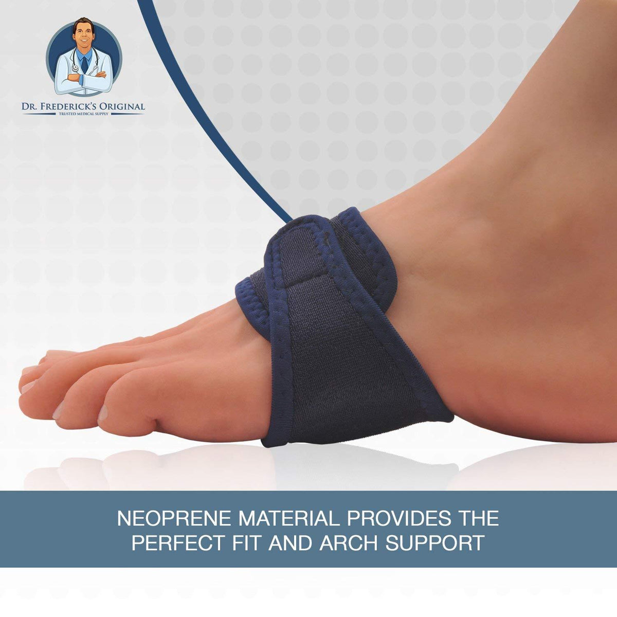 Dr. Frederick's Original Arch Support Brace Set -- 2 Pieces - for Arch Pain, Plantar Fasciitis, and Flat Feet Foot Pain Dr. Frederick's Original