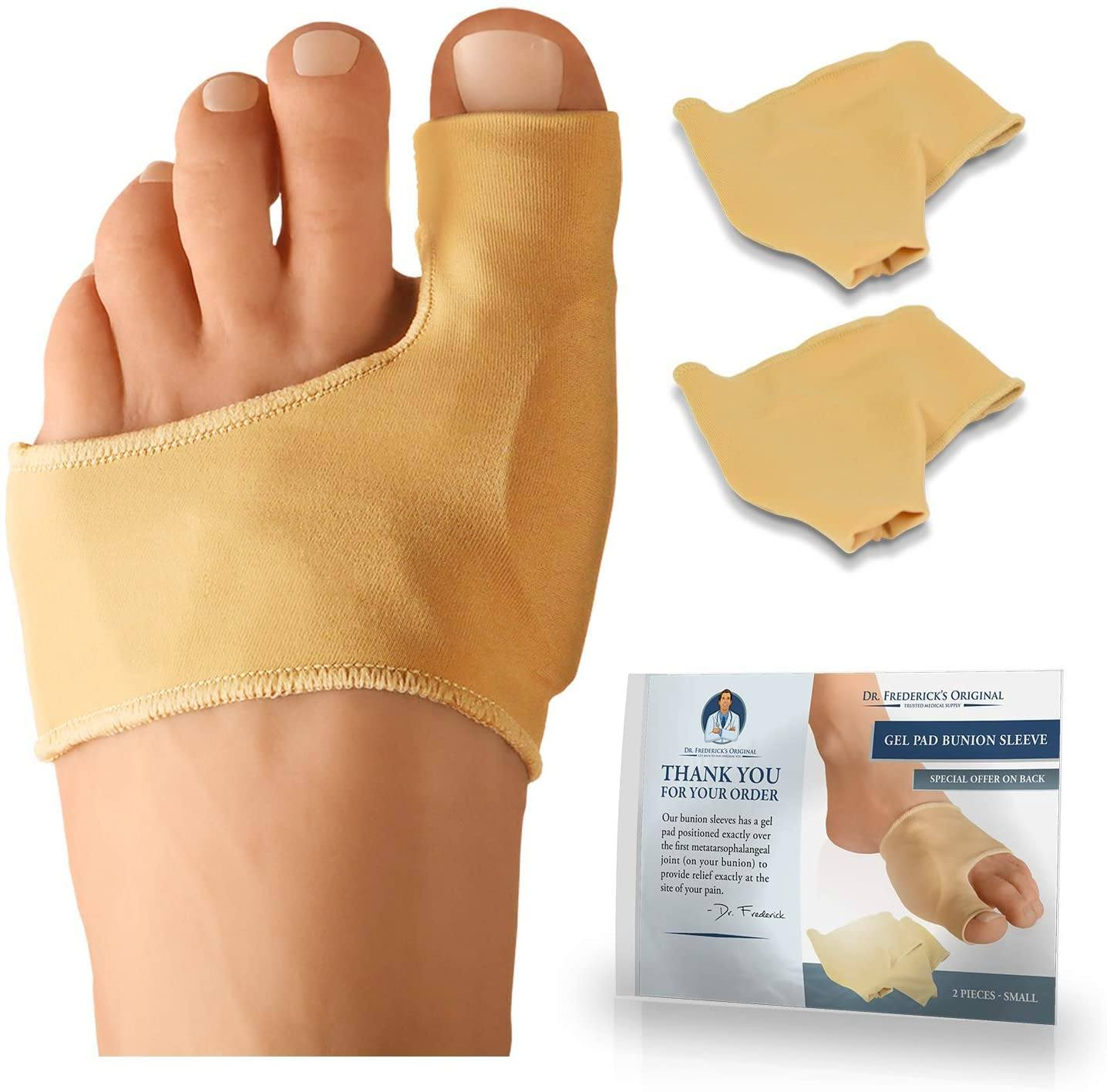 Dr. Frederick's Original Bunion Sleeve Booties - 2 Pieces -- for Low Profile Cushioning of Bunions Foot Pain Dr. Frederick's Original
