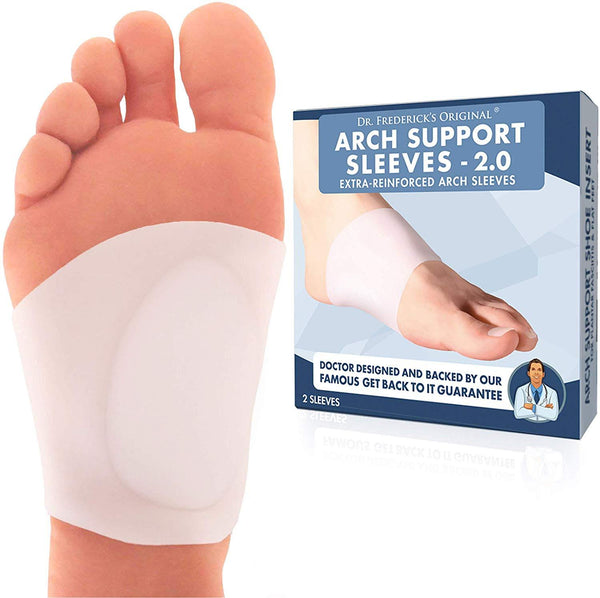 Dr. Frederick's Original Arch Support Sleeve 2.0 -- 2 Pieces - for Flat Feet