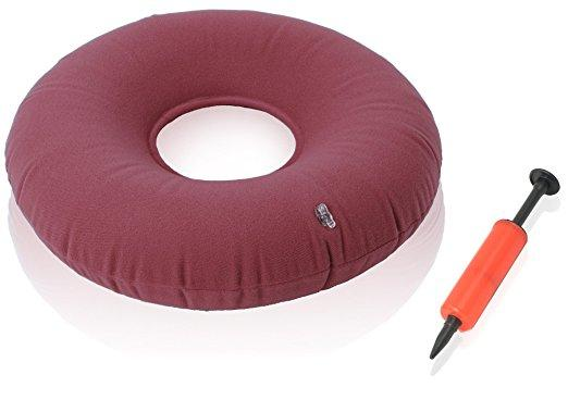 "Dr. Frederick's Original Donut Cushion 15"" Inflatable Donut Pillow - for Tailbone Pain, Hemorrhoids, Bed Sores, and Prostatitis Back Pain Dr. Frederick's Original"