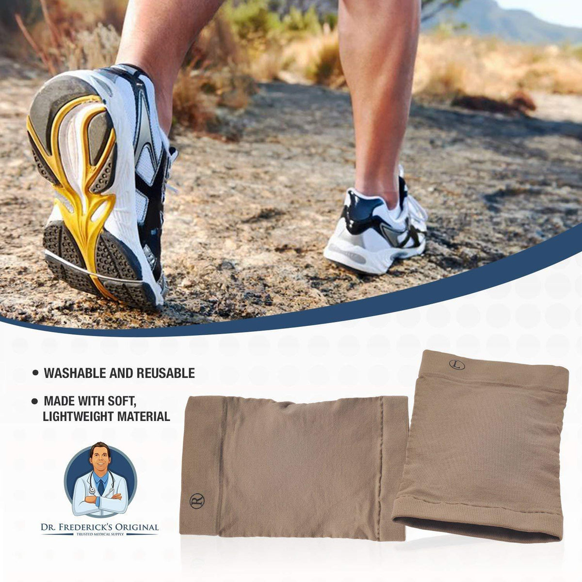 Dr. Frederick's Original Arch Support Sleeve Set -- 2 Pieces -- (W6-10 | M4.5-8) - for Arch Pain, Flat Feet, and Plantar Fasciitis Foot Pain Dr. Frederick's Original