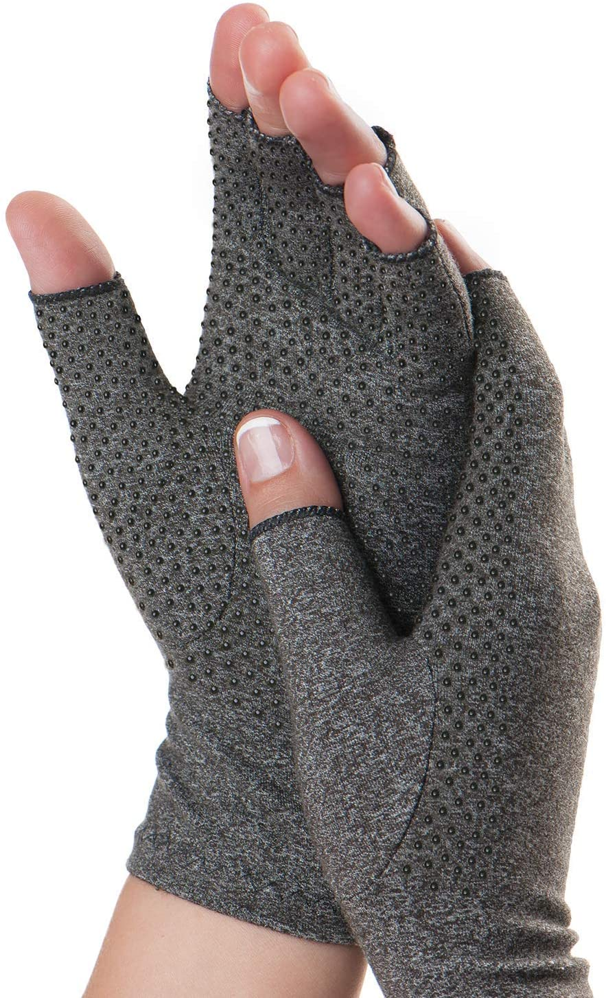 Dr. Frederick's Original Grippy Compression Gloves - 2 Pieces -- Pain Relief for Rheumatoid and Osteoarthritis Hand Pain Dr. Frederick's Original