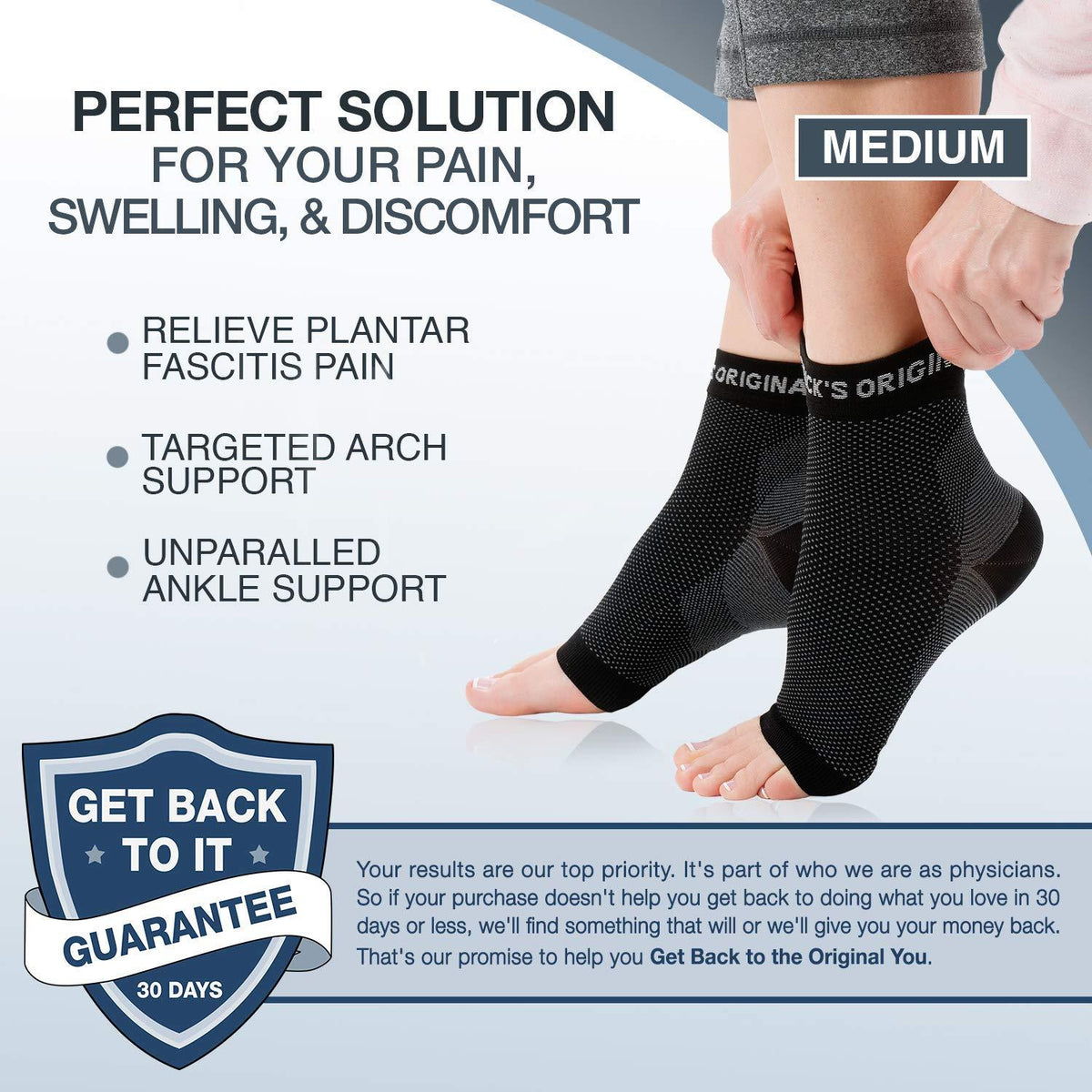 Dr. Frederick's Original Plantar Fasciitis Socks -- 2 Pieces - for Ankle Compression, Plantar Fasciitis, and Arch Support Foot Pain Dr. Frederick's Original