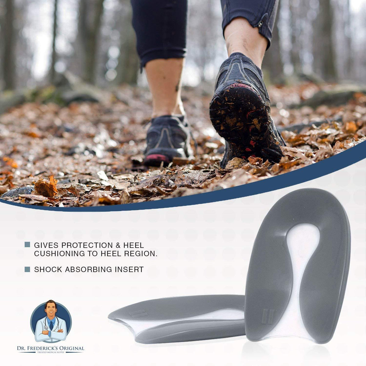 Dr. Frederick's Original Advanced Heel Protectors -- 2 Pieces - for Heel Pain, Plantar Fasciitis, and Heel Spurs Foot Pain Dr. Frederick's Original