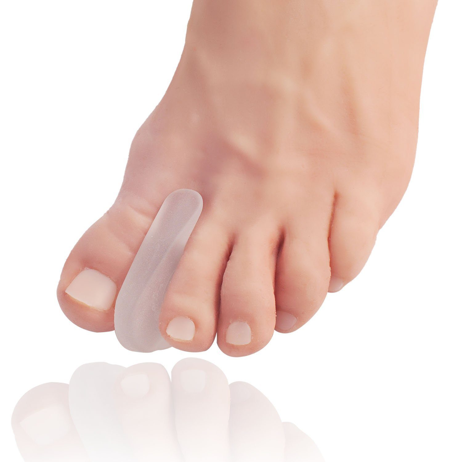 Dr. Frederick's Original Flared Gel Toe Separators -- 6 Pieces - for Bunions and Overlapping Toes Foot Pain Dr. Frederick's Original