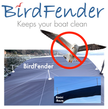 Load image into Gallery viewer, BirdFender Boat Cover Set with 18 Pylons, Virgin White Color