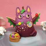 Prunella - fruitiful fruit bat weebeast #235 ✦ moonstone life source with fruit basket