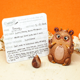 Penny - lucky penny bear Weebeast #202 with sunstone