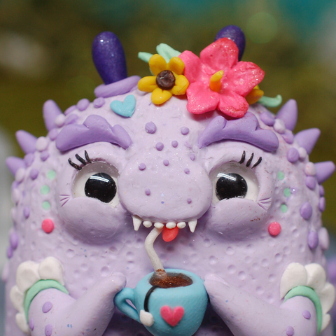 Tina ✦ Tea-Rex Weebeast #287 ✦ with aura amethyst life source