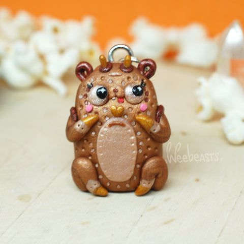 BB Lucky Penny Bear Weebeast Charm with sunstone life source