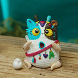 Animal Spirit BB weebeast w/ owl guardian ✦ garnet & quartz eye life source