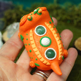 Kissameez ✦ Sweet Orange Gator Weebeast #264 ✦ Green Aventurine life source
