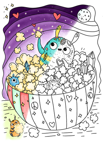 ✦ Save CC info ✦ free coloring page
