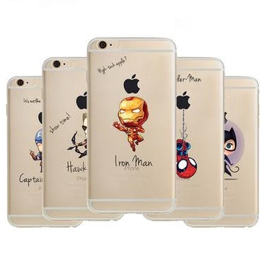 Marvel iPhone Hoesje Transparant - PopMania.nl