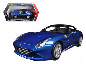 Ferrari California T (closed top) Blue 1/18 Diecast Model Car by Bburago