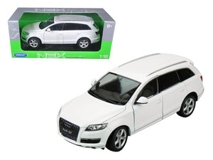 Audi Q7 White 1/18 Diecast Car Model by Welly