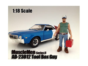 "Musclemen \Tool Box Guy"" Figure For 1:18 Scale Models by American Diorama"""