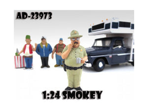 "Smokey \Trailer Park"" Figure For 1:24 Diecast Model Cars by American Diorama"""