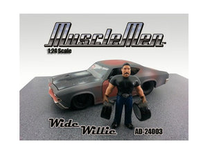 Musclemen Wide Willie Figure For 1:24 Diecast Model Cars by American Diorama