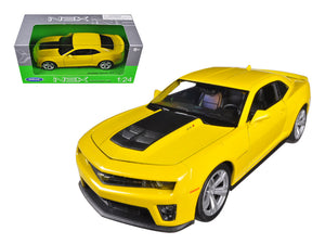 Chevrolet Camaro ZL1 Yellow 1/24 Diecast Car Model by Welly