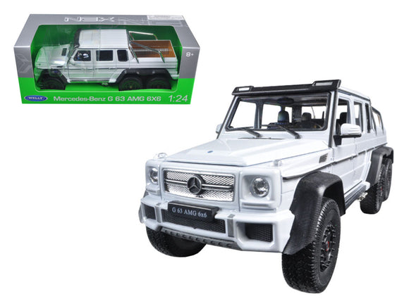 Mercedes G 63 AMG 6X6 White 1/24 Diecast Model Car by Welly