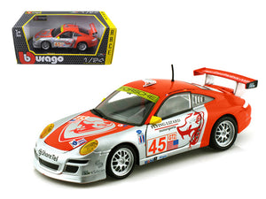 "Porsche 911 GT3 RSR #45 \Flying Lizard"" 1/24 Diecast Car Model by Bburago"""