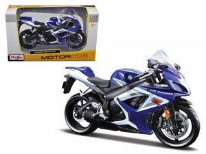 Suzuki GSX-R750 Blue Motorcycle 1/12 Diecast Model by Maisto