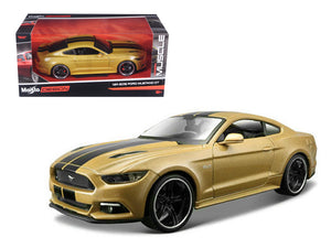 "2015 Ford Mustang GT Gold \Classic Muscle"" 1/24 Diecast Model Car by Maisto"""