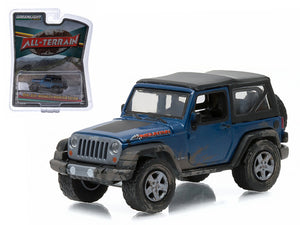 "2010 Jeep Wrangler Mountain Edition Deepwater Blue \All Terrain"" Series 1 1/64 Diecast Model Car by Greenlight"""