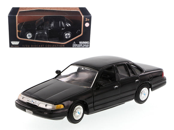 1998 Ford Crown Victoria Black 1/24 Diecast Model Car by Motormax