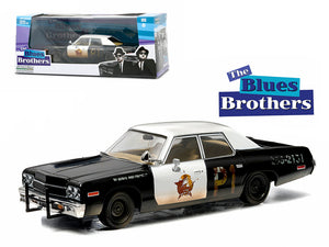 "1974 Dodge Monaco \Bluesmobile"" Blues Brothers Movie (1980) 1/43 Diecast Model Car by Greenlight """