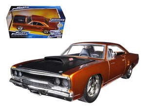 "Dom\'s 1970 Plymouth Road Runner Copper \Fast & Furious 7"" Movie 1/24 Diecast Model Car by Jada """