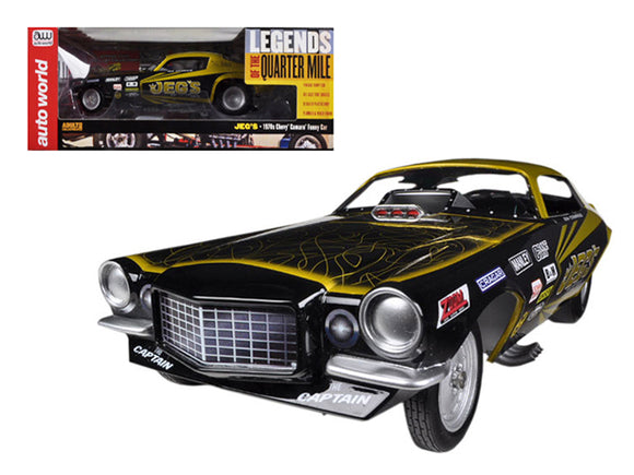 1970\'s Jeg Coughlin Chevrolet Camaro NHRA Funny Car Limited to 1500pc 1/18 Model Car Autoworld