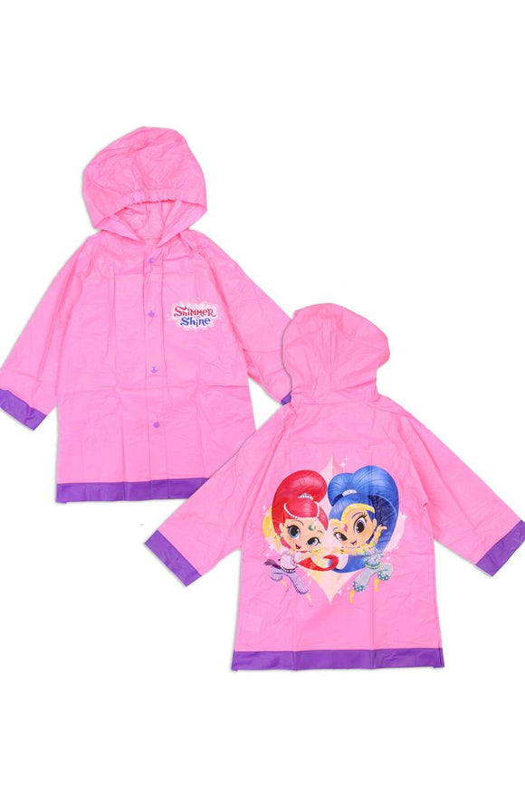 Girls shimmer and shine 2-7 rain slicker