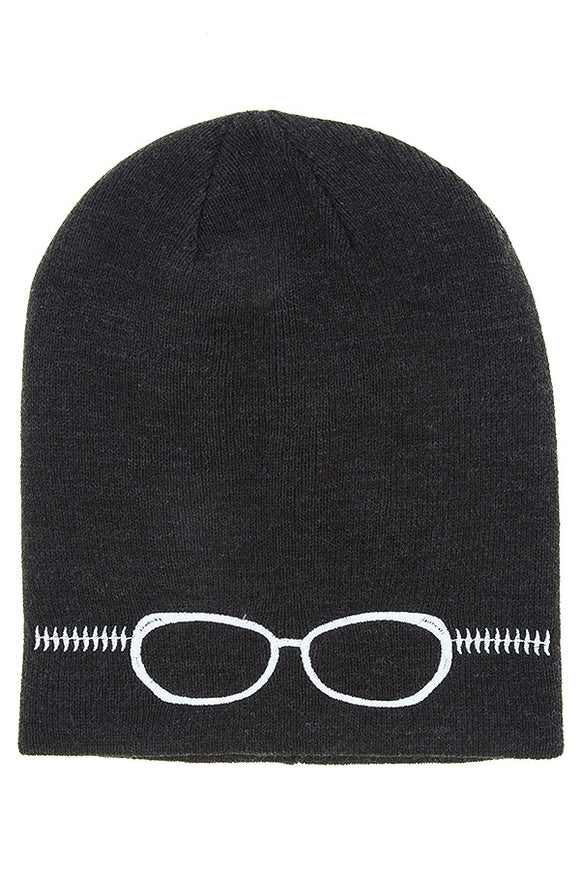 Embroidered glass beanie - Style Forward