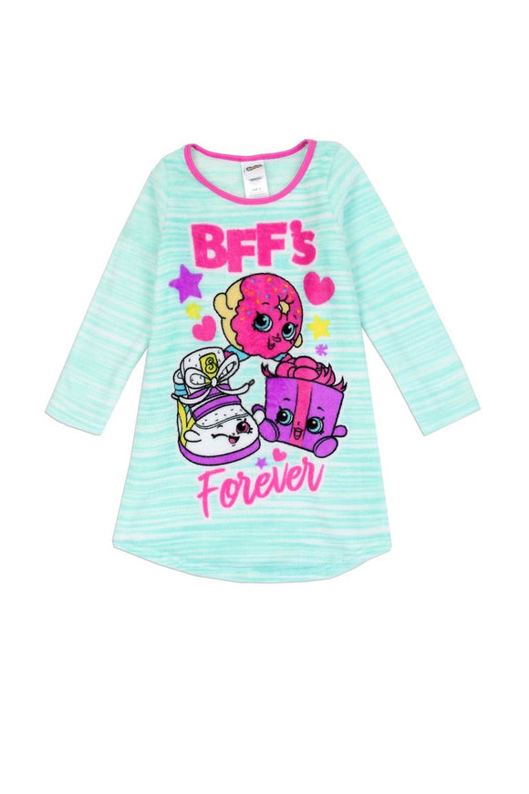 Girls shopkins 4-10 luxe plsuh nightgown