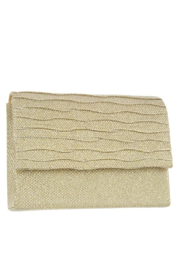 Shimmery square clutch evening bag - Style Forward