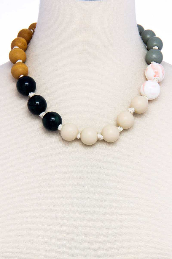 Modern Fashion Big Bead Necklace