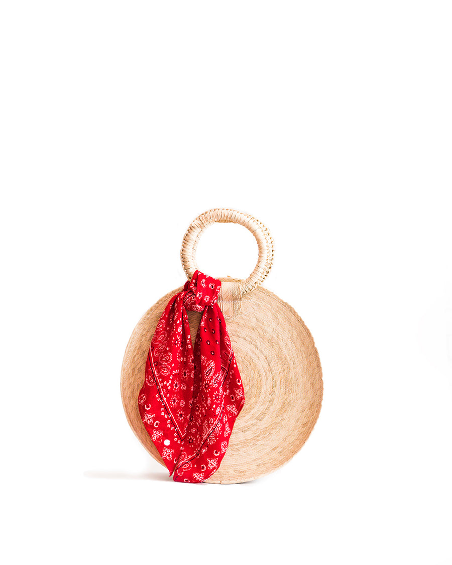 Rattan Circle Straw Bag - natural