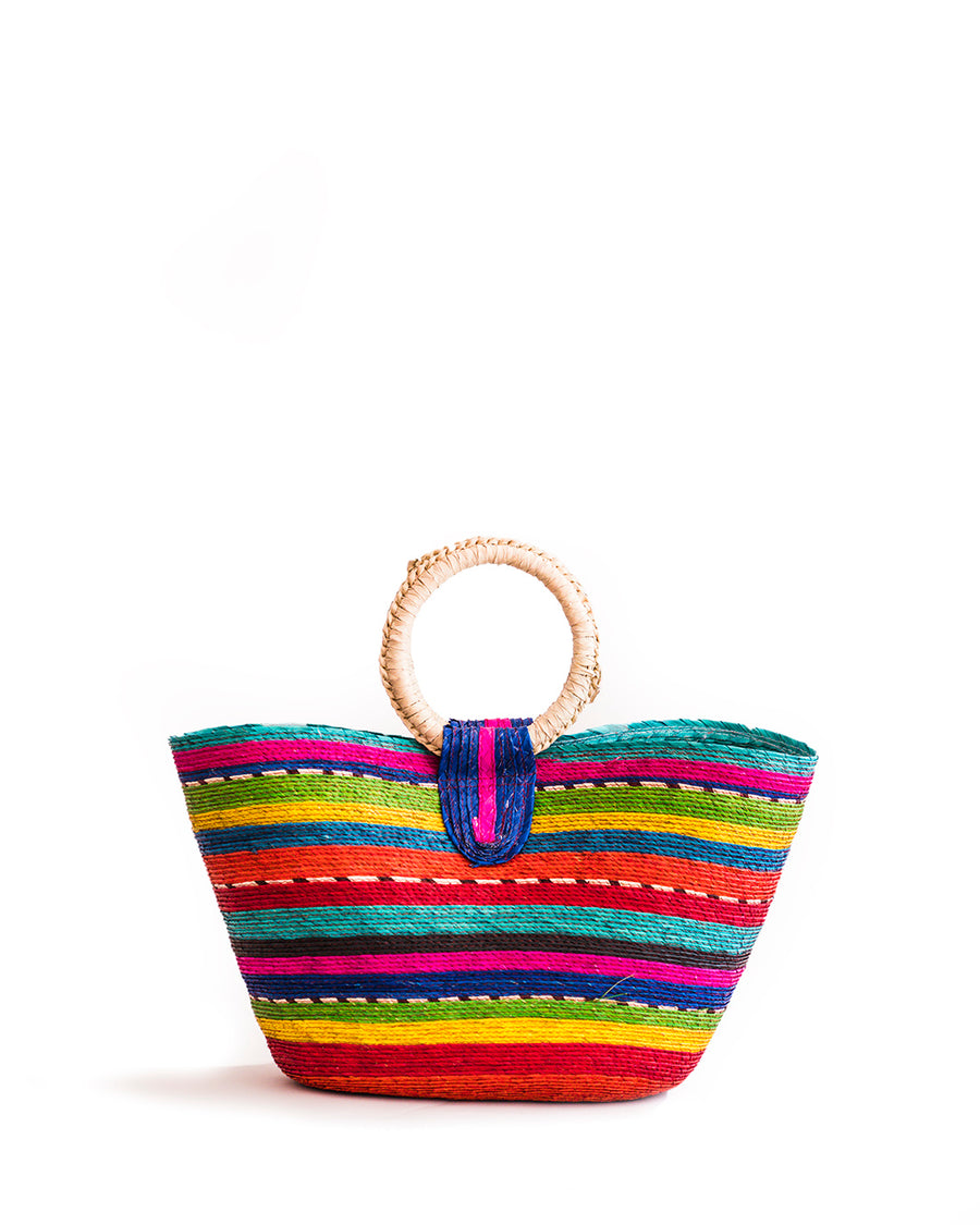 Wicker Tote - colorful