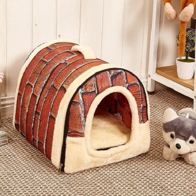Multifunctional Pet House with Foldable Mat