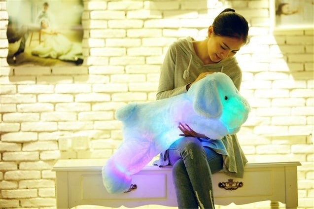 Luminous LED glowing plush dog doll