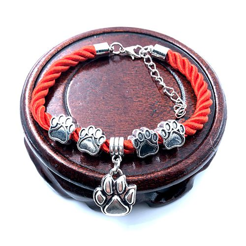 Hand-Woven Rope Chain Dog Paw Bracelet