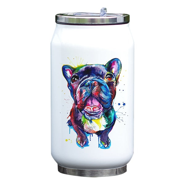 Water Color Printed Insulated Water Bottle