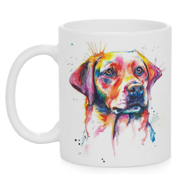 Watercolor Printed Golden Retriever Mug