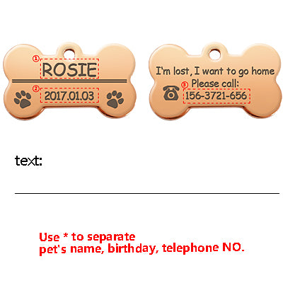 Personalized Stainless Steel Dog ID Tag