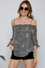 Load image into Gallery viewer, Angelina's Camo Top